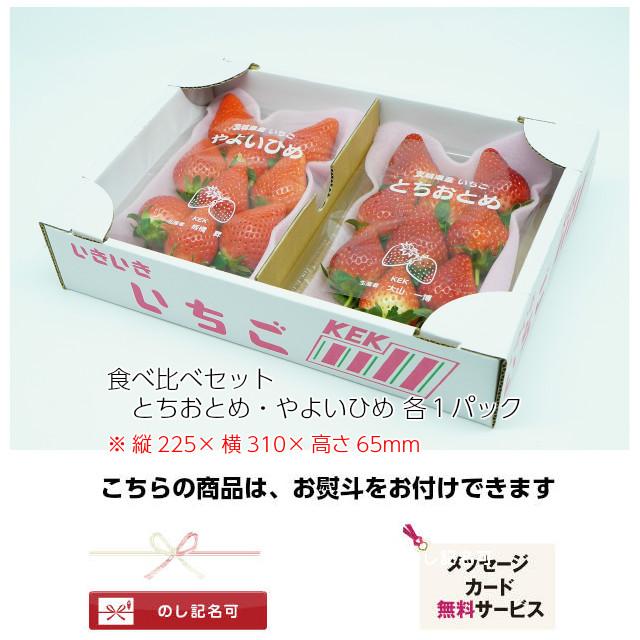 完熟いちごの食べ比べセット,新鮮で甘いイチゴ,ギフトに最適,のし,メッセージカード