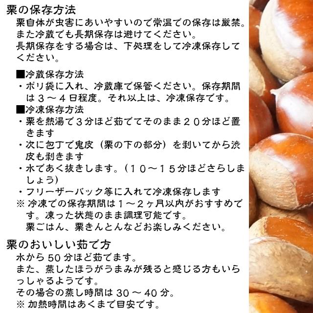栗の保存方法,茹で方,くり,利平,丹沢,大峰,鶴井さん,お取り寄せ,ギフト