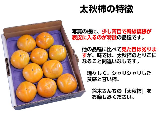 太秋柿の特徴,とりこになる美味しさ,鈴木さんちの柿,フルーツ