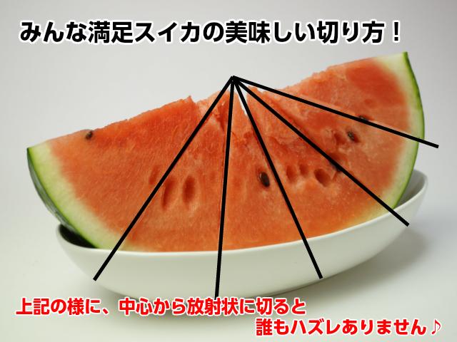 甘いスイカ(紅大)すいか 【楽ギフ】お中元 ギフト